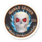 Legion of Evil Optometrists Round Car Magnet