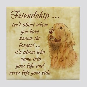 Friendship - Dog Tile Coaster