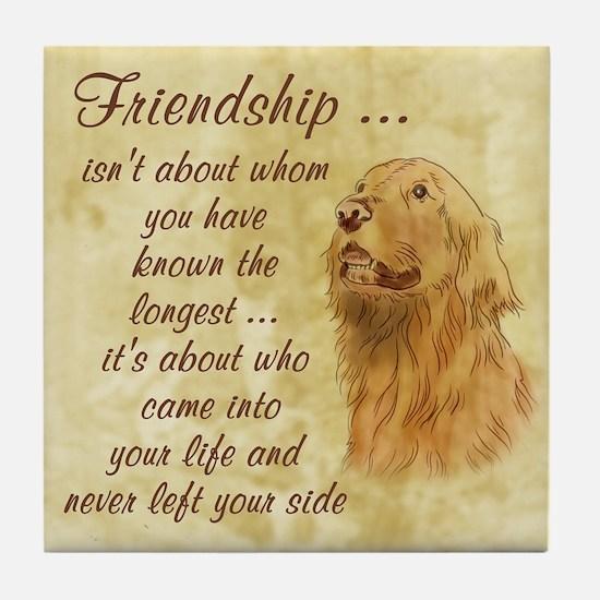 Friendship - Dog Tile Coaster