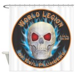 Legion of Evil Plumbers Shower Curtain
