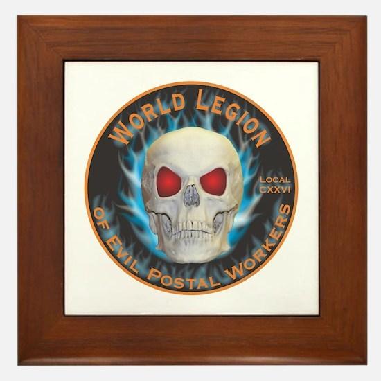 Legion of Evil Postal Workers Framed Tile