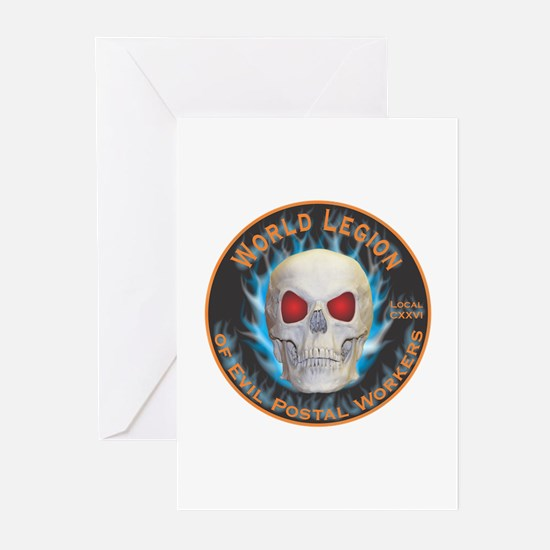 Legion of Evil Postal Workers Greeting Cards (Pk o