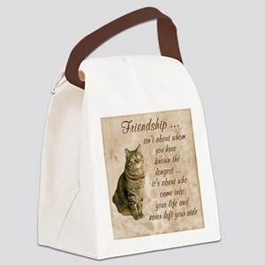 Friendship - Cat Canvas Lunch Bag