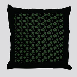 Cannabis Leaf Weed Pot Pattern Throw Pillow