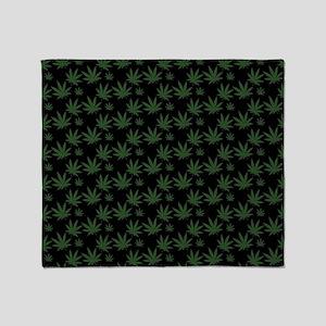 Cannabis Leaf Weed Pot Pattern Throw Blanket