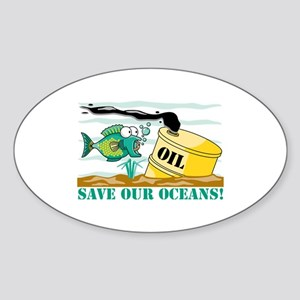 Save Our Oceans Oval Sticker