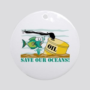 Save Our Oceans Ornament (Round)