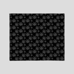Marijuana Leaf Pattern Throw Blanket