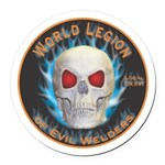 Legion of Evil Welders Round Car Magnet