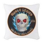 Legion of Evil Welders Woven Throw Pillow