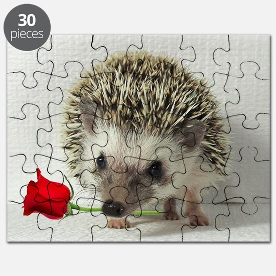 hedgehog with rose Puzzle