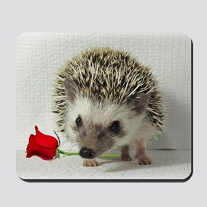 hedgehog with rose Mousepad