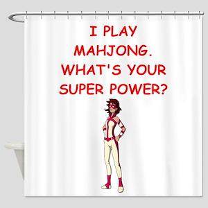 MAHJOMG2 Shower Curtain