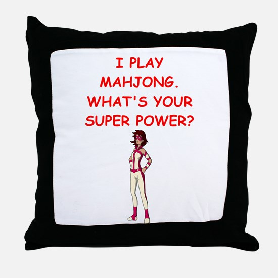 MAHJOMG2 Throw Pillow