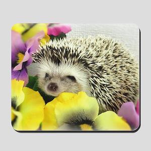 Hedgehog in flowers Mousepad