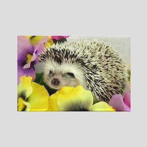 Hedgehog in flowers Rectangle Magnet