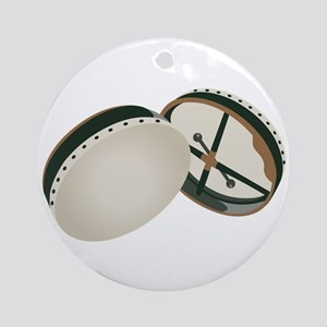 Irish Bodhran Drums Ornament (Round)