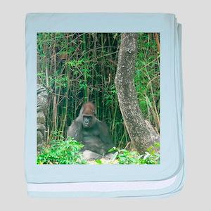 Thinking Gorilla baby blanket