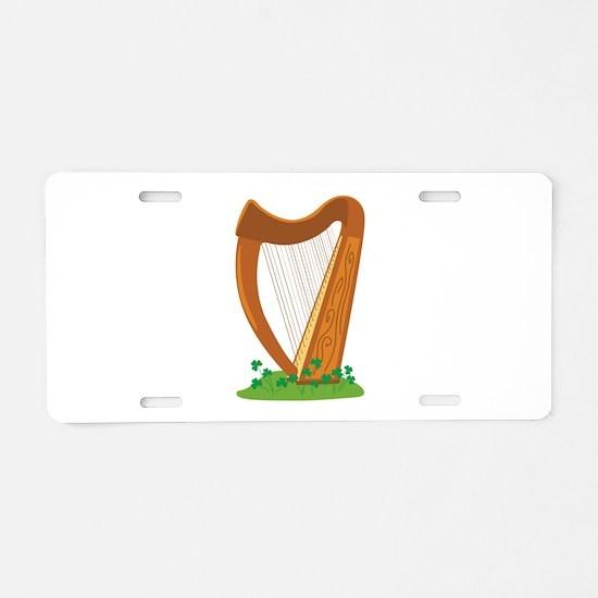 Celtic Harp Instrument Aluminum License Plate