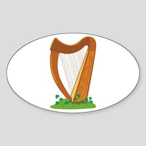 Celtic Harp Instrument Sticker