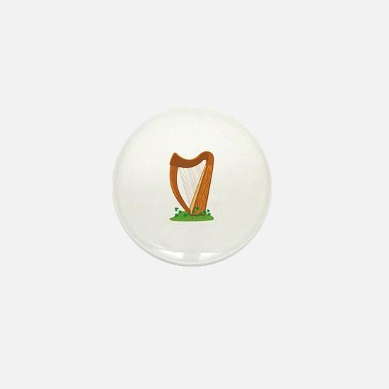 Celtic Harp Instrument Mini Button