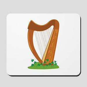 Celtic Harp Instrument Mousepad