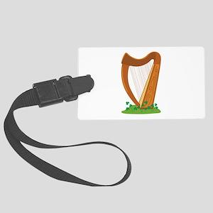 Celtic Harp Instrument Luggage Tag