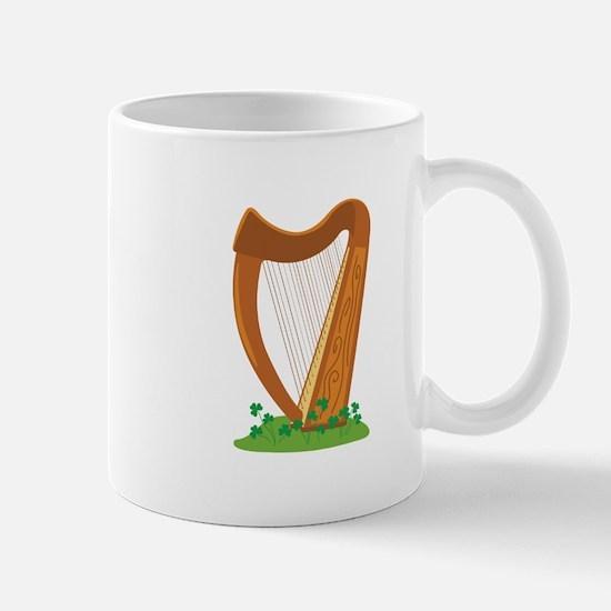 Celtic Harp Instrument Mugs