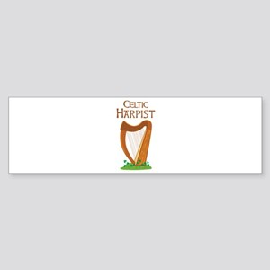 CELTIC HARPIST Bumper Sticker