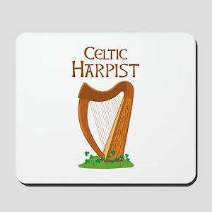 CELTIC HARPIST Mousepad