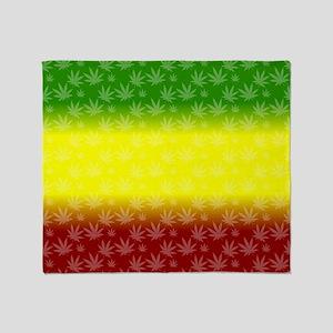 Rastafari Pot Leaf Throw Blanket
