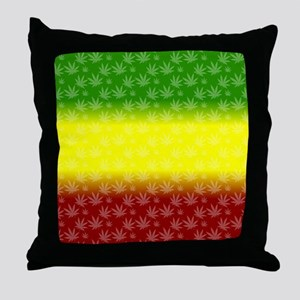 Rastafari Pot Leaf Throw Pillow