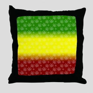Rastafari Pot Leaf Throw Pillow