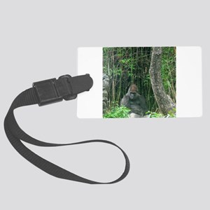 Thinking Gorilla Luggage Tag