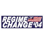 Regime Change '04 (bumper sticker)