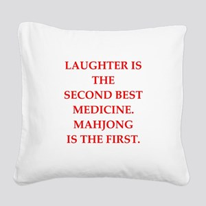 MAHJONG3 Square Canvas Pillow