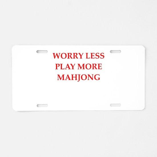 MAHJONG2 Aluminum License Plate