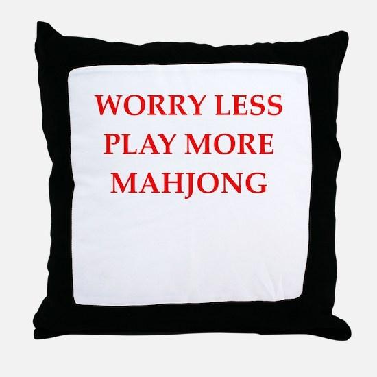 MAHJONG2 Throw Pillow