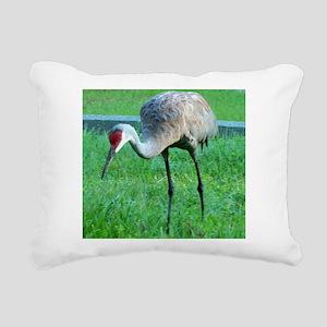 Sand Crane Rectangular Canvas Pillow
