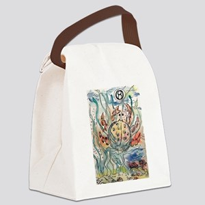 Cancer The Crab Zodiac Sign Canvas Lunch Bag