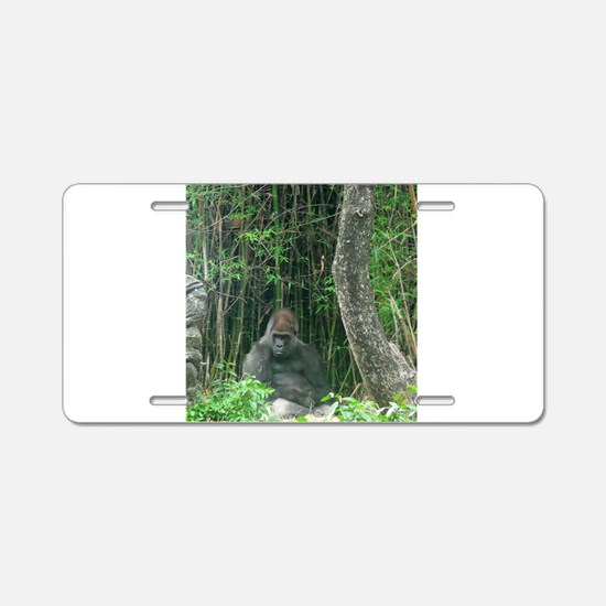 Thinking Gorilla Aluminum License Plate