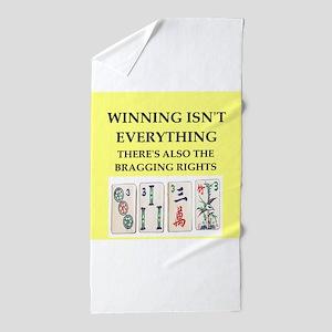 mahjong Beach Towel