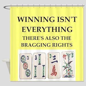 mahjong Shower Curtain
