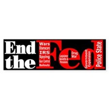 End The Fed Upgraded Bumper Sticker