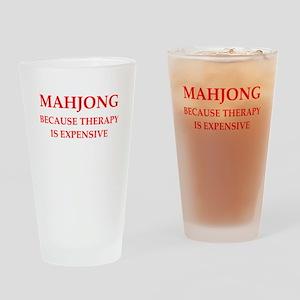 mahjong Drinking Glass