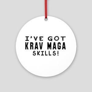 Krav Maga Skills Designs Ornament (Round)
