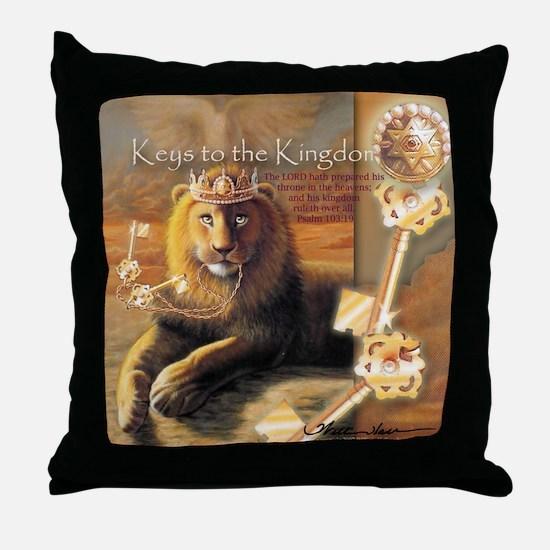"""Keys to the Kingdom"" Fine Art Lion Throw Pillow"