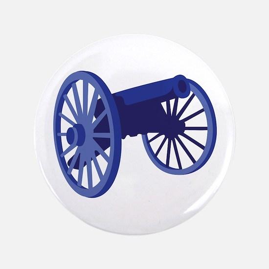 "Civil War Cannon 3.5"" Button"