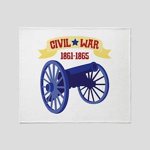 CIVIL*WAR 1861-1865 Throw Blanket