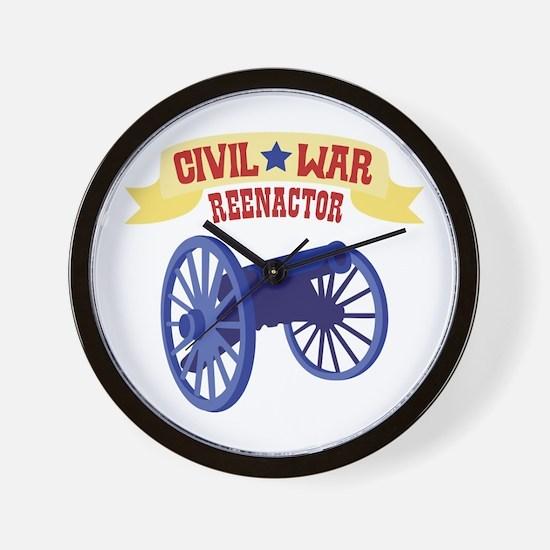 CIVIL * WAR REENACTOR Wall Clock